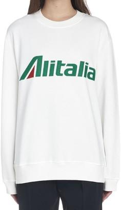 Alberta Ferretti Alitalia Logo Sweatshirt