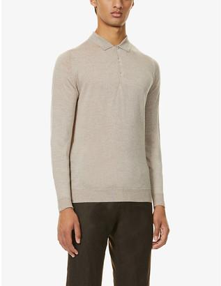 John Smedley Belper knitted polo jumper