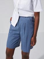 Frank + Oak Wide-Leg Washed Tencel Short in Vintage Indigo