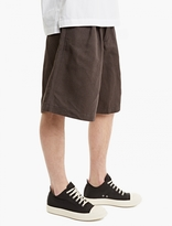 Comme Des Garcons Shirt Charcoal Oversize Pleated Shorts