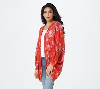 G.I.L.I. Got It Love It G.I.L.I. Printed Cocoon Kimono
