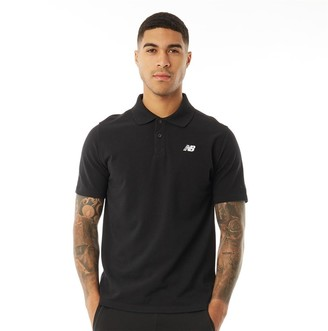 New Balance Mens Chest Logo Polo Black