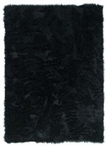 Linon Black Faux Sheepskin Rug (3' x 5')