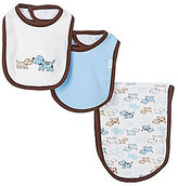 Little Me Cute Puppies Bib & Burp Cloth 3-Piece Set