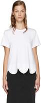 Comme des Garcons White Scalloped T-Shirt