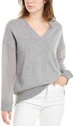 Magaschoni Contrast Cashmere & Silk Sweater