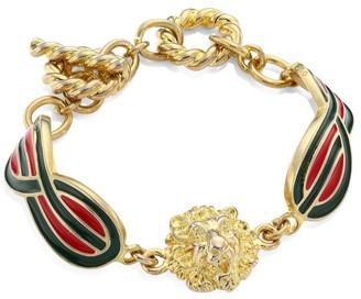 Gucci Lionhead Enamel Bracelet