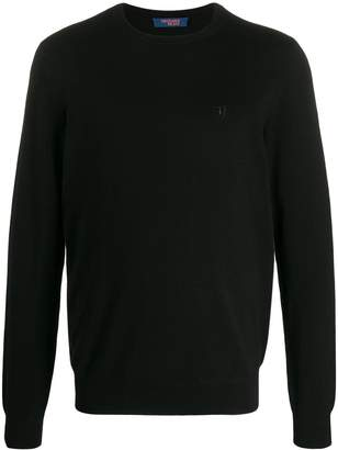 Trussardi Jeans embroidered logo relaxed-fit jumper