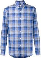 Etro checked button-down shirt - men - Linen/Flax - 39