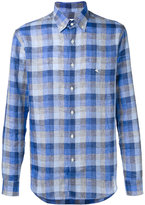 Etro checked button-down shirt - men - Linen/Flax - 40