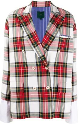 Jejia Tartan Check-Pattern Blazer