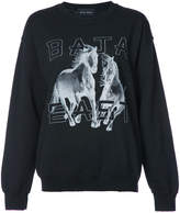 Baja East logo print sweatshirt