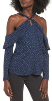 WAYF Women's Nola Ruffle Cold Shoulder Top