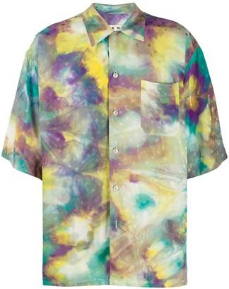 Marni Tie-Dye Logo Print Shirt
