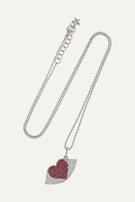 Ofira Kiss Me 18-karat White Gold, Diamond And Ruby Necklace - one size