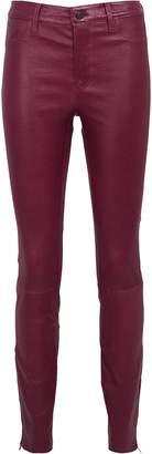 J Brand Baroness Mid-Rise Leather Leggings