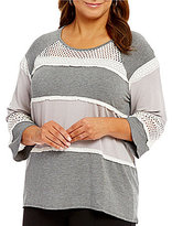 Multiples Plus 3/4 Raglan Sleeve Baby French Terry Top