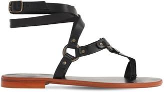 Sarah Summer 10mm Leather Flat Sandals