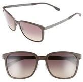 BOSS Men's 56Mm Retro Sunglasses - Black Ruthenium/ Gray