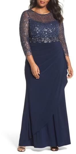 Decode 1.8 Lace & Jersey Gown