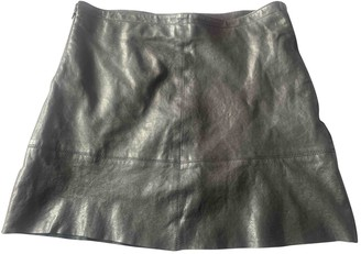 Chevignon Black Leather Skirt for Women
