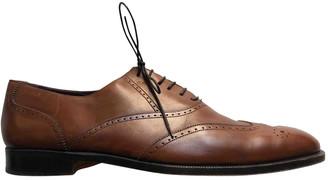 Saint Laurent Brown Leather Lace ups
