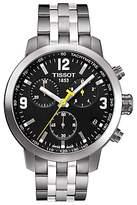 Tissot T0554171105700 Prc 200 Chronograph Date Bracelet Strap Watch, Silver/black