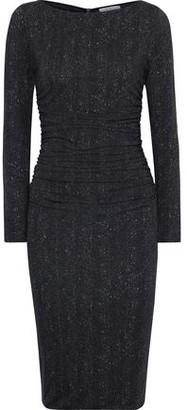 Max Mara Ruched Printed Jersey Dress