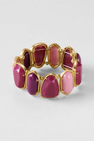 Lands' End Women's Gemstone Stretch Bracelet