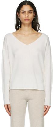Le Kasha White Cashmere Tibet Sweater