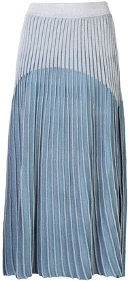 Balmain High-Waisted Pleated Skirt