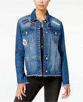 One Hart Juniors' Patch Denim Jacket, Only at Macy's