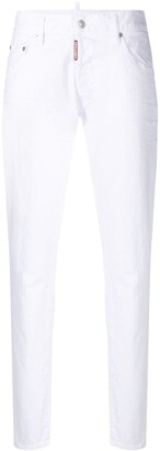 DSQUARED2 Cropped Straight-Leg Jeans