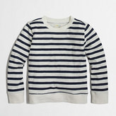 J.Crew Factory Factory boys' striped lightweight crewneck sweatshirt