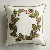 Pier 1 Imports Holly Wreath Pillow