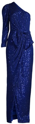 Jay Godfrey Andi Sequin One-Shoulder Gown