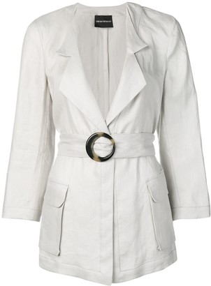 Emporio Armani Saharian belted jacket