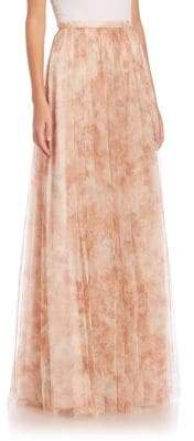 Jenny Yoo Arabella Printed Tulle Maxi Skirt