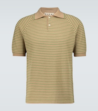 Marni Striped short-sleeved polo shirt