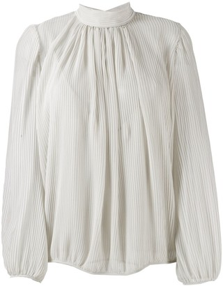 Indress High-Neck Pleated Blouse