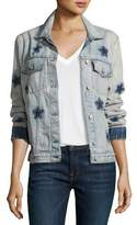 Rails Knox Star-Print Denim Jacket, Blue