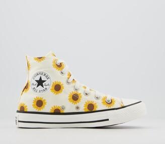 Converse All Star Hi Trainers Sunflower Egret Black