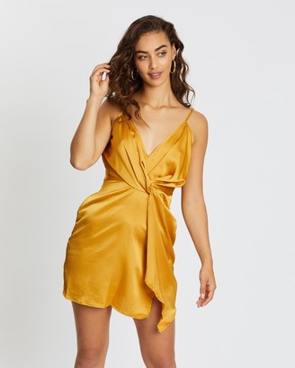 Missguided Strappy Twist Shift Dress