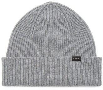 Paul Smith Ribbed-knit Cashmere-blend Beanie Hat - Grey