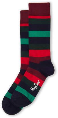 Happy Socks Stripe Contrast Knee High Socks