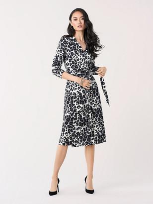 Diane von Furstenberg T/72 Silk-Jersey Midi Wrap Dress