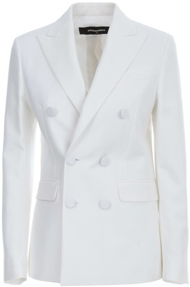 DSQUARED2 Oscar Jacket Cotton Silk Double Breasted