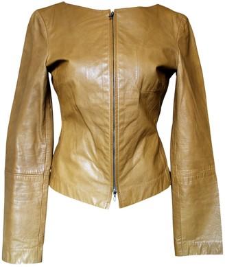 Emporio Armani Camel Leather Leather Jacket for Women Vintage