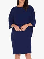 Adrianna Papell Textured Crepe Sheath Dress, Ink