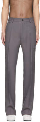 Random Identities Grey High Rise Five Pocket Trousers